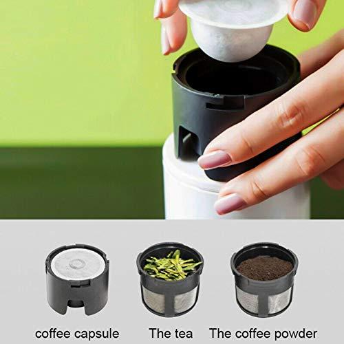 i Viaggi e LUfficio junchuang Mini Macchina da caff/è Portatile da Viaggio Macchina da caff/è istantanea a Goccia Termica dal Design Compatto Perfetta per Il Campeggio