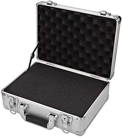 Small Aluminum Hard Case Foam Toolbox Professional Carrying Case Silver Aluminum Flight Cases Portable Equiment Tool Case