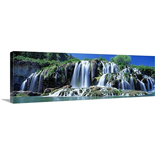 (GREATBIGCANVAS Gallery-Wrapped Canvas Entitled Tributary Waterfall Snake River Bonneville County ID by 60