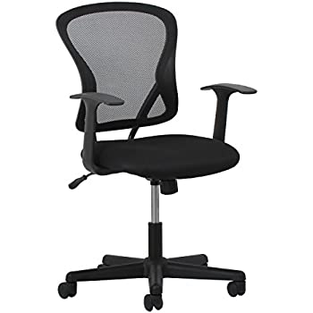 essentials swivel mesh task chair with arms ergonomic chair ess