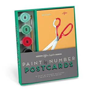 Robert Mahar for Knock Knock: Office Supplies Paint-by-Number Postcards Kit