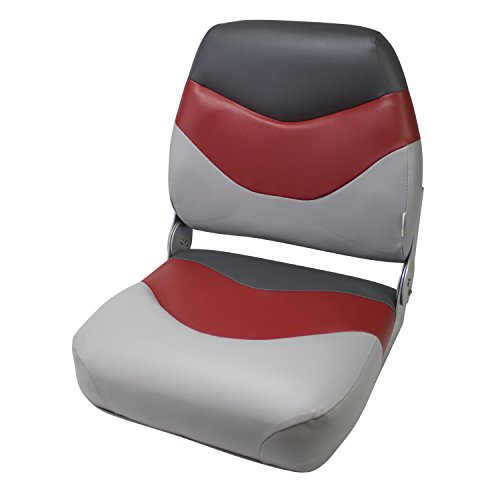 Deluxe Fishing Boat - Wise Deluxe High-Back Seat (Cuddy Marble/Cuddy Dark Red/Cuddy Charcoal)