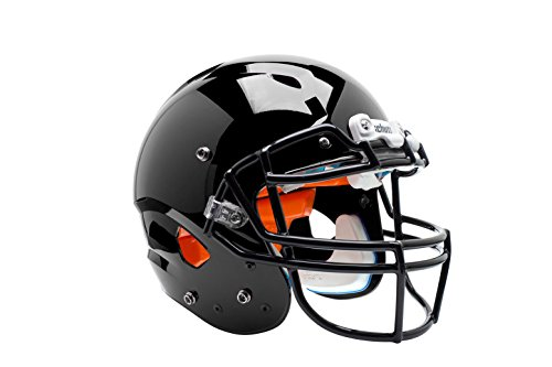 Schutt Sports Youth Vengeance Hybrid MF Football Helmet (Faceguard Not Included), Black, Medium
