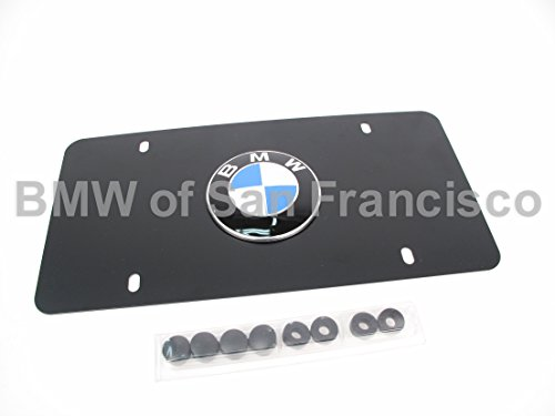 BMW License Marque Plate Logo Black