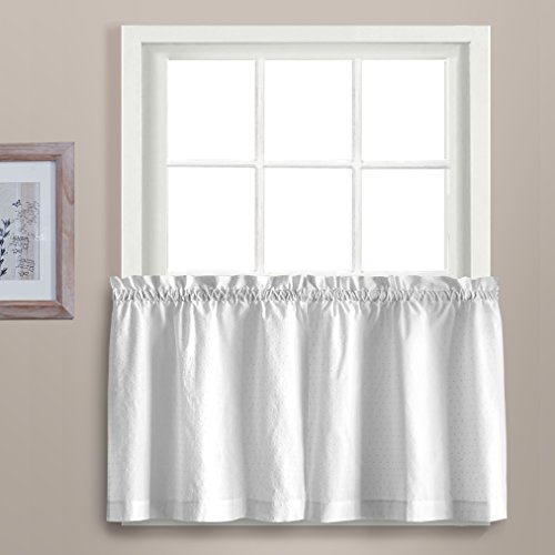United Curtain Dorothy Window Curtain Swiss Dot Tiers, 54 X 36