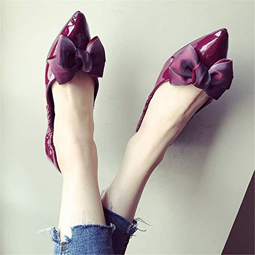da basse confortevole Primavera signore 40 37 scarpe basse ufficio punta e lavoro EU scarpe incinta EU e da morbida vernice scarpe in FLYRCX scarpe autunno donna w6qXvdAA