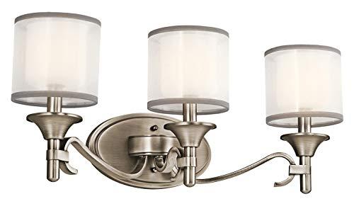 Kichler 45283AP Lacey Bath 3-Light, Antique Pewter