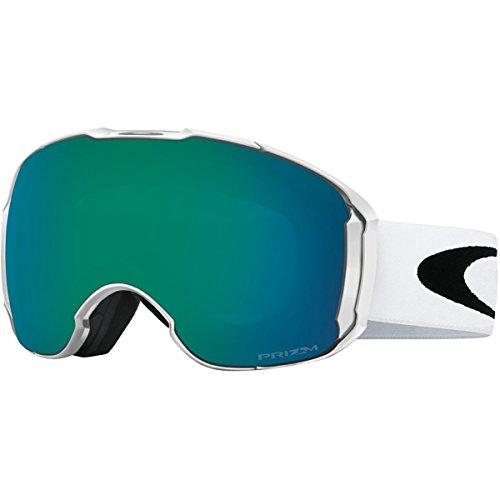 Oakley Men's Airbrake XL Snow Goggles, Polished White, Prizm Jade Iridium, - Oakley Goggles White