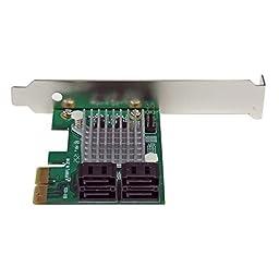 StarTech.com 4 Port PCI Express 2.0 SATA III 6Gbps RAID Controller Card with HyperDuo SSD Tiering - PCIe SATA 3 Controller Adapter