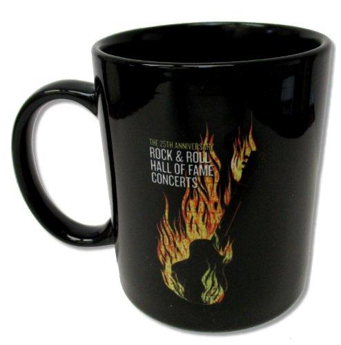 Rock & Roll Hall of Fame 25th Anniversary Concert Black Ceramic Mug
