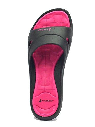 Noir Chaussons Fem Femme V pink Pour 81459 Feet rose Slide Rider Black qA0pvcw