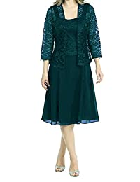 Modest Mother Of Bride Dress Jacket with 3/4 Sleeves Formal Prom Gown Peacock US16W