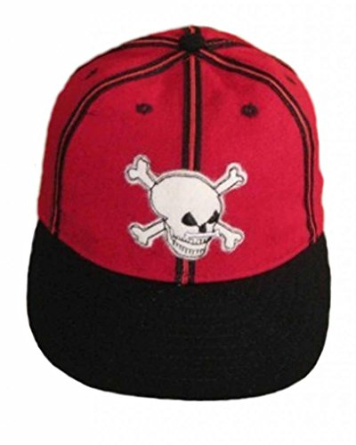 - Ideal Cap Co. Port Au Prince Skulls Vintage Baseball Cap 1935 7 3/4 Red/Black/White