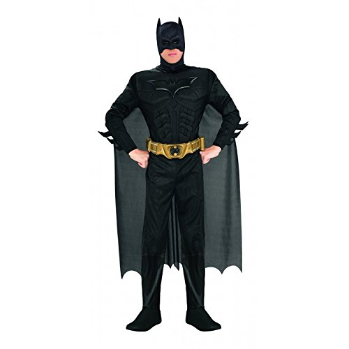 Deluxe Muscle Chest Batman Adult Costume - (Deluxe Dark Knight Batman Adult Costumes)
