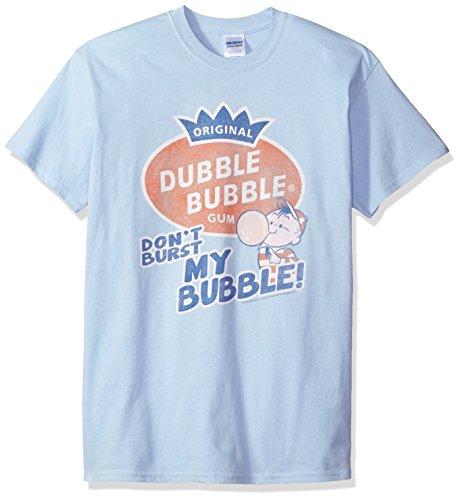 Trevco Men's Dubble Bubble Short Sleeve T-Shirt, Burst Light Blue, Small