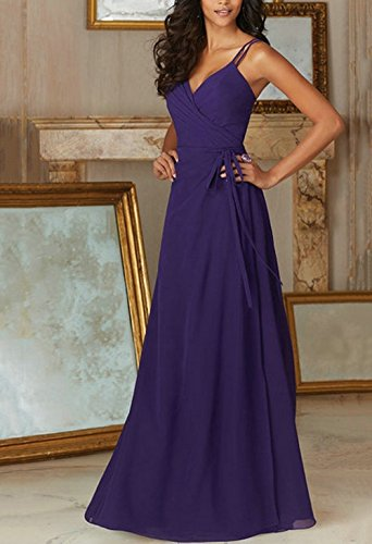 Annies Dress for Bridesmaid 4 Floor Cross neck Color Bridal Backless V Criss Wedding length azwaqrC