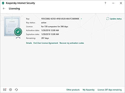 Kaspersky internet security 2019 key