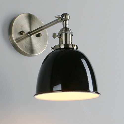 Pathson industrial vintage metal light shade loft bar kitchen sconce pathson industrial vintage metal light shade loft bar kitchen sconce wall light lamp lighting fixture e27 dark green amazon kitchen home aloadofball Choice Image