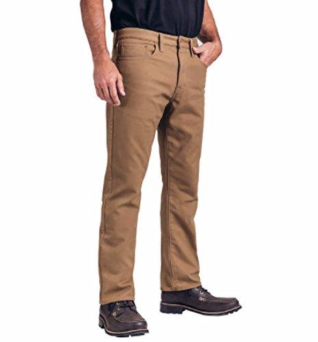 Weatherproof Vintage 1948 Fleece-Lined Jeans Classic Straight Leg (Tan, 34W X 32L)