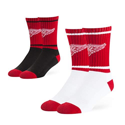 (OTS Adult Men's NHL Dasher Sport Sock 2-Pack, Team Color, Large)