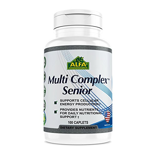 Senior Formula 100 Tablets - Alfa Vitmains Multi Complex Senior Tablets, 100 Count