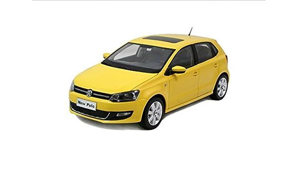 VW Volkswagen New Polo 2011 Modelo a escala Escala 1:18 Amarillo ...