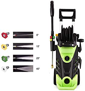 Homdox 3500PSI Electric Pressure Washer, 1800W Power Washer, 2.6GPM High Pressure Washer, Professional Washer Cleaner,4 Nozzles,HM5226(Green)