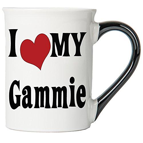 I Love My Gammie Large 20 Oz. Coffee Mug; Gammie Ceramic Coffee Cup; Gammie Gift By Tumbleweed