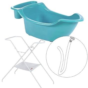 Babymoov Baignoire Baby Boat Pied Tube De Vidange Turquoise
