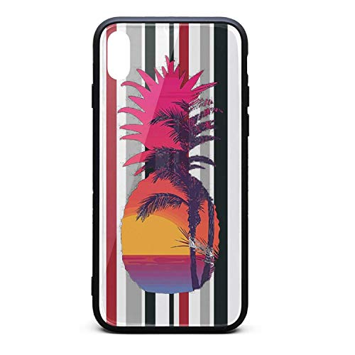 - Phonerebey X/Xs Case,Graphic Pineapple Sunset Palm Tree Cool Beach Anti-Scratch Shockproof Slim Cover Case Compatible with Apple X/Xs Case,TPU and Tempered Glass