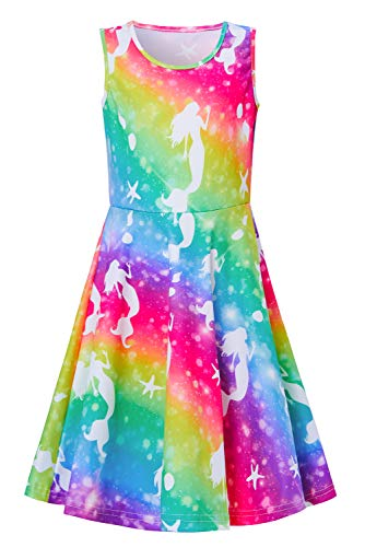 Special Occassion Dresses For Girls (Funnycokid Rainbow Mermaid Dresses for Girls Swing Party Dress Special)