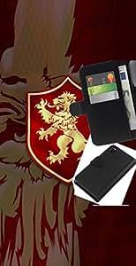 YiPhone /// Tirón de la caja Cartera de cuero con ranuras para tarjetas - León de Oro Sigil - Sony Xperia Z3 D6603