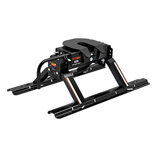CURT 16116 E16 5th Wheel Hitch with Base Rails, 16,000 lbs. (Wheel 16000 Lb Fifth Hitch)