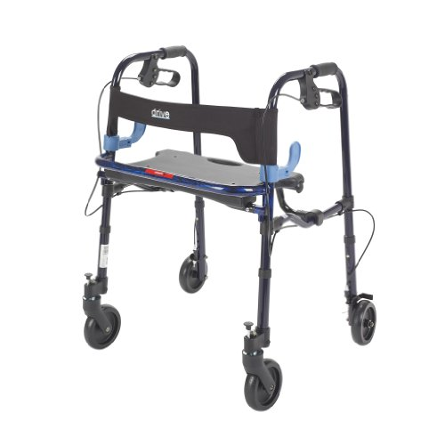 """Drive Medical Deluxe Clever Lite Rollator Walker with 5"""" Cas"""