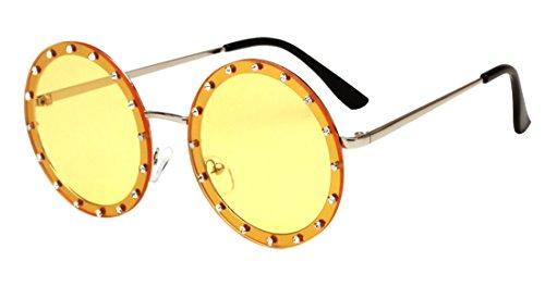 lunettes lunettes mode unisexe HD de anti soleil lunettes rondes soleil Color3 Polaroid JYR marée de ultraviolet Uf8tqqw