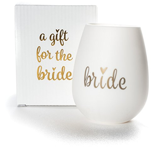 "Bride Silicone Wine Cup with ""A Gift for the Bride"" Gift Box, a Perfect Gift for a Bride to Be!"