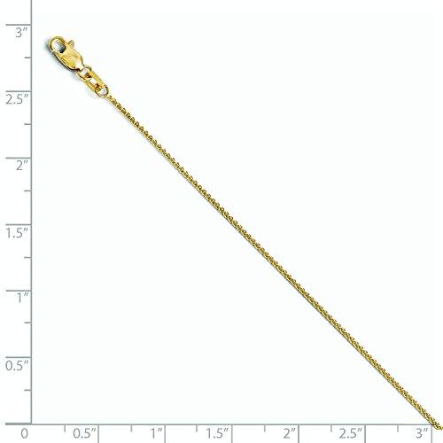 10K Or 1mm blé Bracelet chaîne-23cm-doré Grade Plus élevé que or 9carats