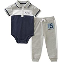 Tommy Hilfiger Baby Boys 2 Pieces Creeper Pants Set