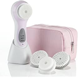 True Glow by Conair Sonic Facial Skincare System; Pink; Amazon Exclusive Bonus Pack