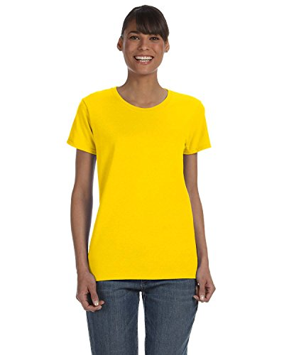 Gildan 5000L - Missy Fit Ladies T-Shirt Heavy Cotton - First Quality - Daisy - Medium ()