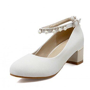 Talones de las mujeres Primavera Verano Otoño Invierno Comfort novedad de la PU de oficina y carrera boda sintético fiesta y noche vestido casual tacón de aguja White