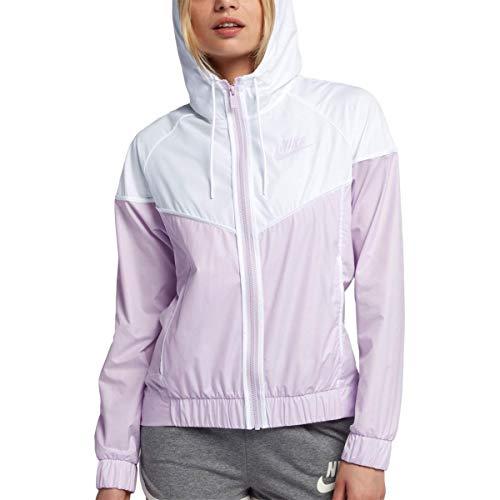 Nike Womens Lightweight Hooded Windbreaker Jacket Purple L