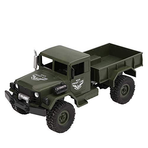 Toy RC Truck-Vovomay JJRC Q62 RC 1:16 2.4G Remote Control 4WD Tracked Off-Road Military Truck Car RTR Toy - 1 Scale 4 Rc Planes
