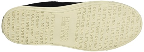 Hilfiger Denim Ladies N1385ice Sneaker 1z2 Nero (bianco)