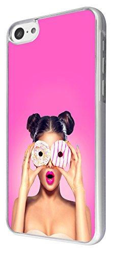 869 - Fahion Girl Doghnut Eye Fun Design iphone 5C Coque Fashion Trend Case Coque Protection Cover plastique et métal