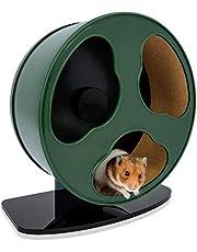 Niteangel Quiet Hamster Exercise Wheel: - Dark Clouds Series Hamster Running Wheels for Dwarf Syrian Hamsters Gerbils Mice or Other Small Sized Pets (Medium, Dark Green)