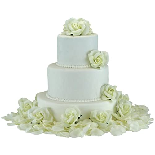Wedding Cakes With Flowers On Top: Wedding Cake Flowers: Amazon.com
