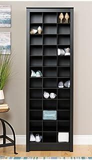Prepac Space Saving Shoe Storage Cabinet In Black