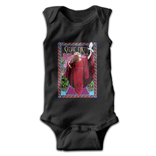 0a1d5e8c Joshuaet Stevie Nicks Logo Stylish and Fun Newborn Baby Unisex Soft  Climbing Suit Black