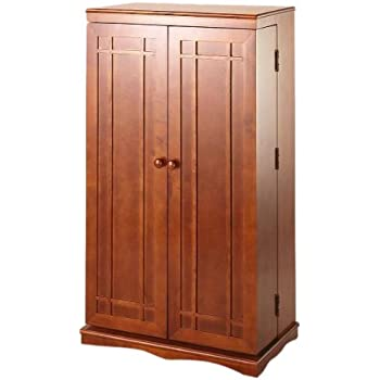 Amazon Winsome Wood Cddvd Cabinet With Glass Doors Antique